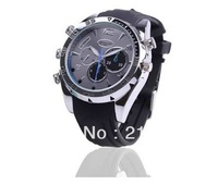 4GB 8GB 1080P High Resolution Waterproof Watch DVR with IR Night Vision HD Hidden Watch Camera Elegant Wrist Sport Watch