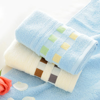Free Shopping 100% Cotton Face Towel plaid cotton washouts Waste-absorbing soft