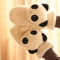 Winter a relaxed bear lovers gloves plush cartoon gloves
