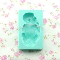 Free shipping 1 set large baby shape chocolate silicon mold fondant Cake decoration mold