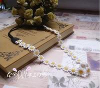 Freeshipping wholesale fashion lace daisy flower floral elastic headband hairband hair accessory 12pc/lot