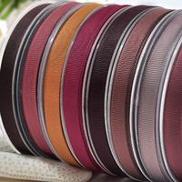 100 Yards 3/8'' Dark Tan Series Solid Grosgrain Ribbon For Hair Bows Hair Clips Garment Accessories No. Y2