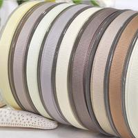 100 Yards 3/8'' Light Tan Series Solid Grosgrain Ribbon For Hair Bows Hair Clips Garment Accessories No. Y2