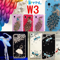 Blingbling  peacock diamond Shiny Luxury Rhinestone Case for THL W3  mobile phone protective shell Christmas gift