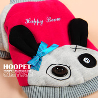 Extra-thick thermal pet clothes hiphop rabbit cartoon wadded jacket dog clothes teddy bomex turned installed winter b