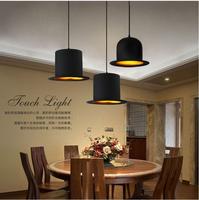 modern style lamp design 110v 220v E27*1 lamp holder Jeeves Wooster Top hat pendant light aluminum indoor hat lamp free shipping