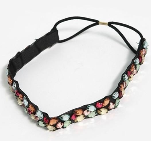 Freeshipping wholesale fashion lace daisy flower floral elastic headband hairband hair accessory 12pc/lot(China (Mainland))