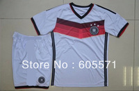 wholesales germany 2014 home soccer jerseys soccer uniform shirts + shorts good quality free shipping