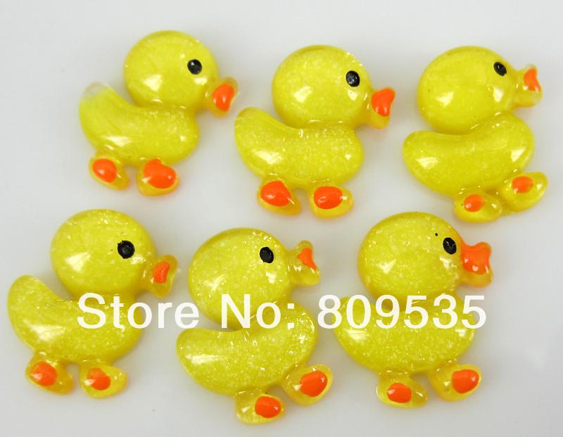 Free Shipping 100pcs Mixed Colors Resin Duck Flatback Cabochon Scrapbook Craft(China (Mainland))