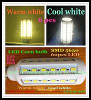 Free shipping 6 pcs/iot E27 E14 B22 15W SMD 5630 60 LED 110-240V high power LED corn bulb SMD lamp Maize Light warm/cool white