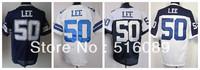 Free Shipping #50 Sean Lee Men's Elite Football Jersey ,Embroidery Logos American Football Jersey,Size M--3XL