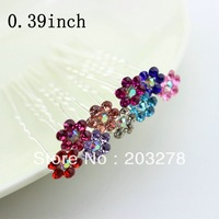 Fashion Hair Pins Crystal flower Hair Jewellery wedding bridal Hair Accessories hairpin wholesale