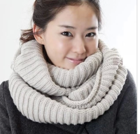 Autumn and winter thermal yarn solid color muffler scarf all-match ingot needle collars pullover 2 ring muffler scarf