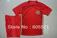 2014 spain soccer jerseys wholesales  soccer uniform shirts + shorts good quality free shipping
