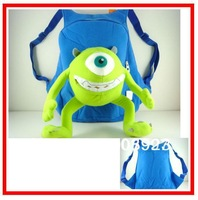Hot Sale Monster Inc Soft Plush Backpack Bag Mike Wazowski University Bag 32cm