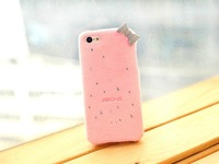 New Fshion 3D Plush Flluy Bowknot Soft TPU Protector Cover Diamond Bling Case for iphone 5