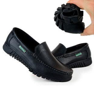 Negócio dos homens de primavera e outono casual couro sapatos masculinos idosos couro genuíno sapatos confortáveis antiderrapante(China (Mainland))