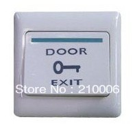 Exit Push Button,Exit Button,Access control switch! - made by fireproof plastic material 10pcs/lot