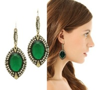 Style restoring ancient ways is the big green earrings free shipping