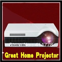 Hot sale 2200lumens Native 800X600 Mini LED LCD Home Theater Projector With HDMI+USB+TV Tuner Video 3D Projector