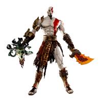 "God of War 12"" NECA God of War Kratos in Golden Fleece Armor with Medusa Head PVC Action Figure Collection Model Toy"