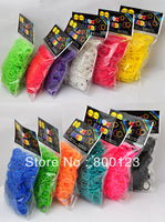 Colorful Loom Bands - Mixed - Rubber Band Refills - 600+ Bands & 24 Clips - 12 Colors Available