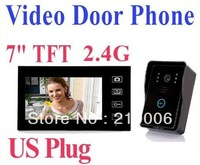 "New Arrival!! 2.4G 7"" TFT Wireless Video Door Phone Intercom Doorbell Home Security Camera Monitor"