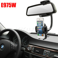 New 360 Degrees Rotation Car Rearview Mirror Holder GPS Mount Stand For LG Optimus GJ E975W Free Shipping