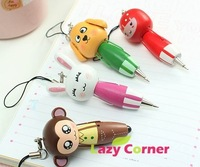 free shipping Cartoon animal carry pen ball point pen Pendant