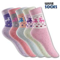 2013 christmas elk thickening thermal women's loop pile socks towel 100% female socks cotton sock thick socks