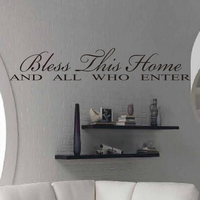 4 bless thhis home wall stickers fashion