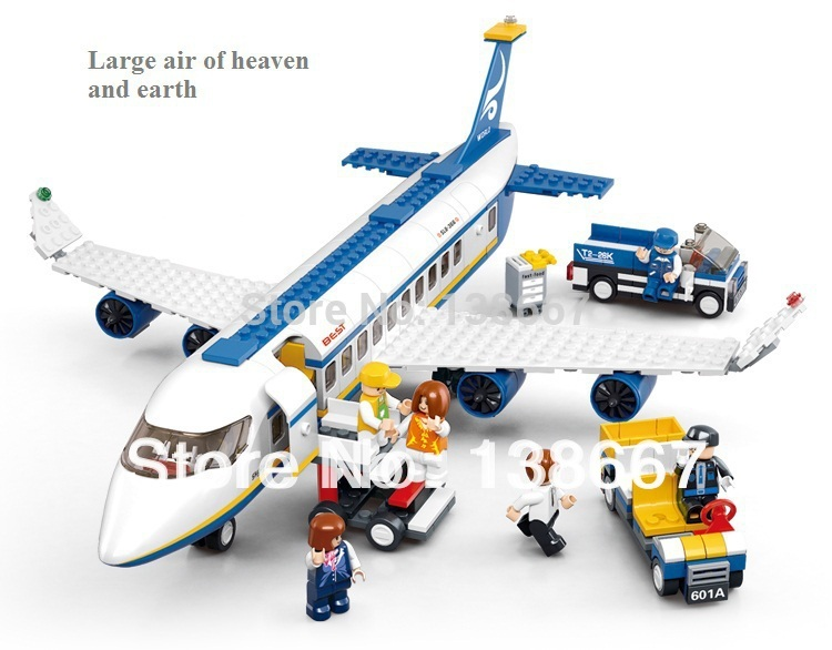 Retail Sluban Air Series bricks Air bus lego compatible Building Blocks 7 Doll 483pcs Block Enlighten Toys Children Gift(China (Mainland))