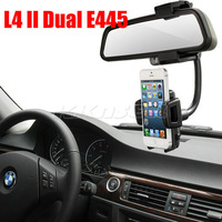 New 360 Degrees Rotation Car Rearview Mirror Holder GPS Mount Stand For LG Optimus L4 II Dual E445 Free Shipping