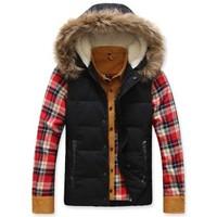 Metersbonw new winter more male han edition men down vest men's down jacket