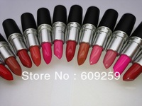 2013 M Brand Cosmetic Makeup Lustre Rough Long Lasting Nude Lipsticks for Women 12 Pcs / set Free Shipping 3.8g!!!