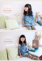 free shipping! kids clothes girls ,girl denim dress,kids dress   5pcs/lot    LSS01