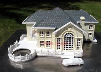 3D Plastic House Kit Palace villa model with LED-Light