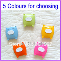 [ 10 pcs / lot ] Contact Lens Case Cute Pig Design with Mirror with Soaking Box Drop Shiping Free Shipping