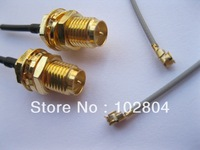 RP-SMA Male Pin Connector to IPX U.FL 1.13 Antenna WiFi Cable 120mm 200 Pcs Per Lot