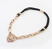 Min. order is $9 (can mix style) Fashion trend CCBcoarse chain cutout vintage long necklace XL492