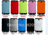 [50pcs/lot] Wholesale DHL Free, SGP Armor Pattern PC+Silicon Back Case For Samsung N7100 Galaxy Note2 Supper Quality 11 Colours