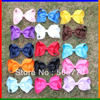 4-5inch 36mm ribbon 15colors air bows fashion hair boutique girl boutique hair bows print ribbon bows