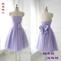 Bridesmaid dress sister dress short tube top design wedding dress princess dress birthday dress one-piece dress