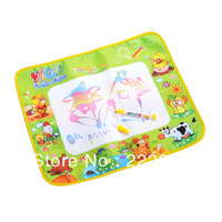 Free shipping & wholesale & Cheap!  58*48CM Kids Water Drawing Painting Writing Mat Board &Magic Pen Doodle Toy Gift