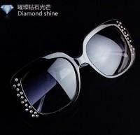 Vintage rhinestones women's sunglasses women men sunglasses fashion luxury shinning glasses frame free shipping 0141