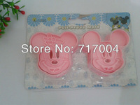 Min Order $18 (mixed order) 2pcs Mickey and Minnie  Cartoon Cookie Cutter Cake Tools production