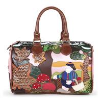 Braccialini 's same designer women's handbag vintage girl messenger bag fashion women's bags Forest mushroom handbags