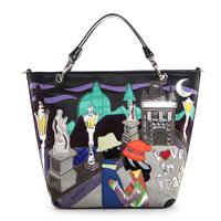 Italy Braccialini 's same designer women's handbag casual handbags messenger bag fashion fashion big bags Prague Square Plaza