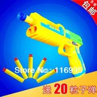 Free shipping Toy pistol manual bullet baby 3 peases soft bullet gun