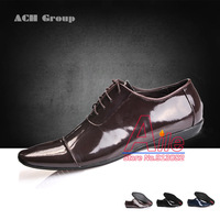 3 Colors 6 models luxury brand dress shoes men's office business shoes oxfords genuine leather shoes high quality 40-47